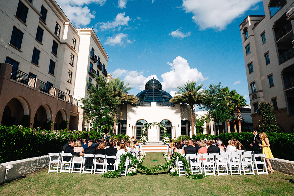 outdoor courtyard ceremony space