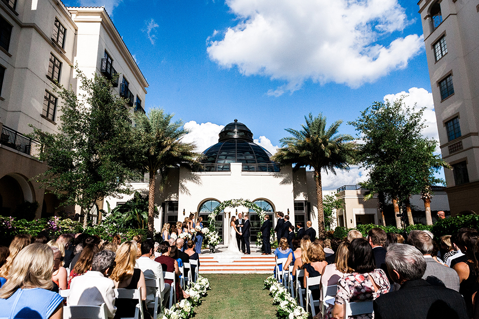 alfond inn courtyard ceremony