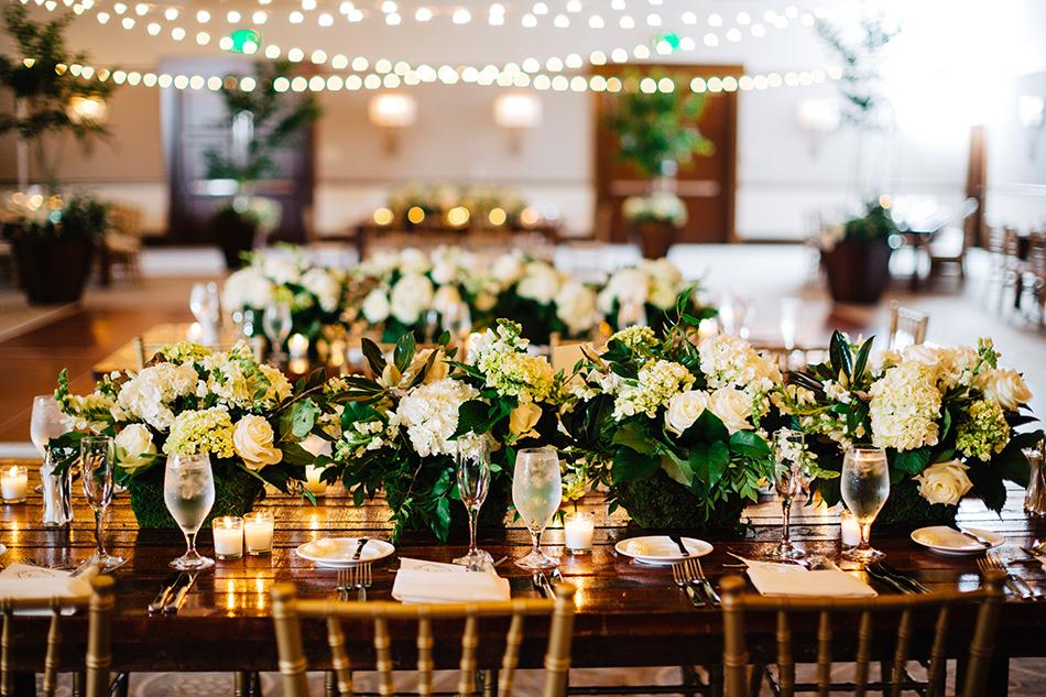 lush floral centerpieces