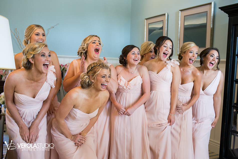 bridesmaids reaction photography