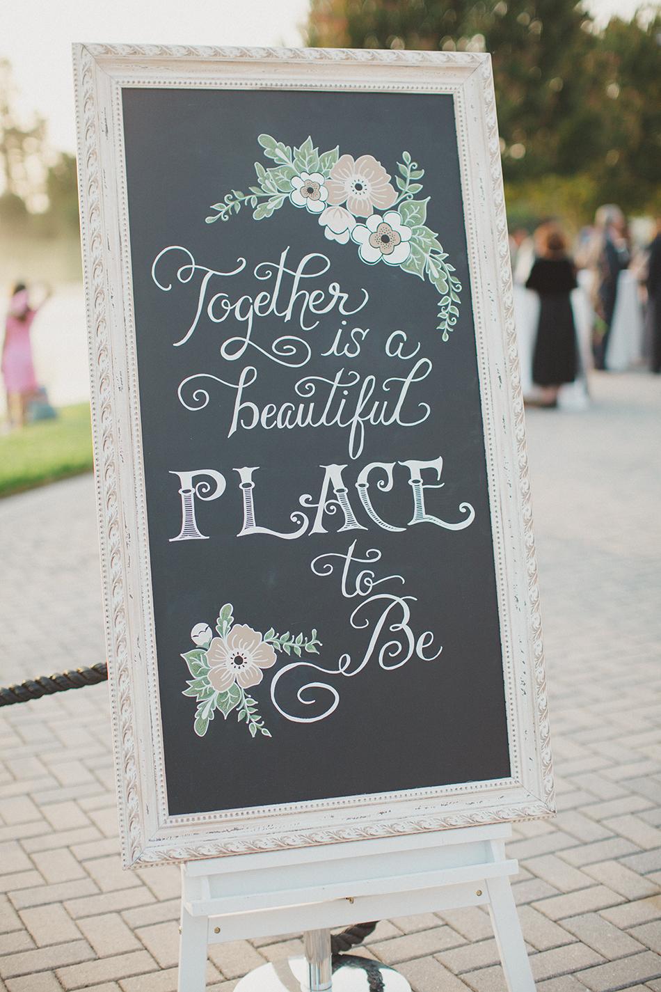 custom painted wedding signage