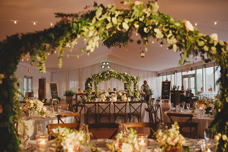 lush wedding floral design