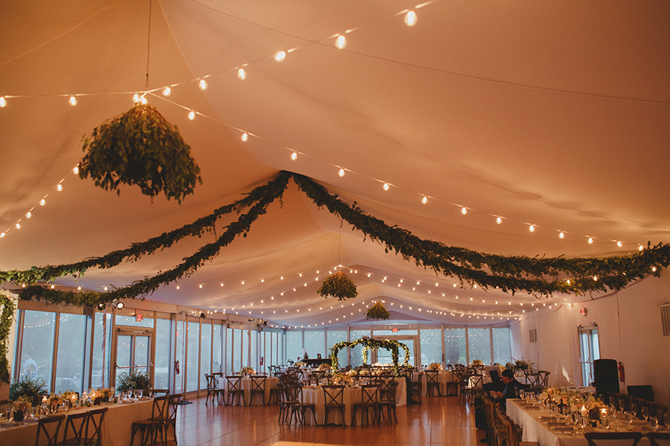 tented wedding space