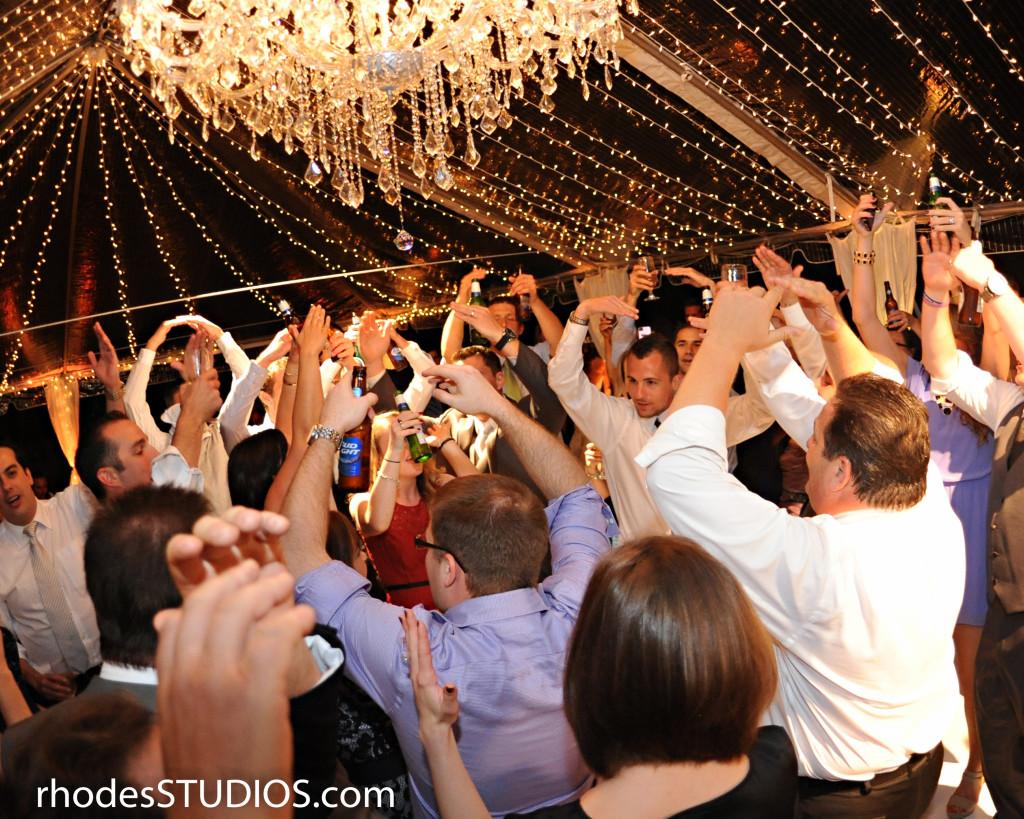 Tented Wedding Twinkle Lights
