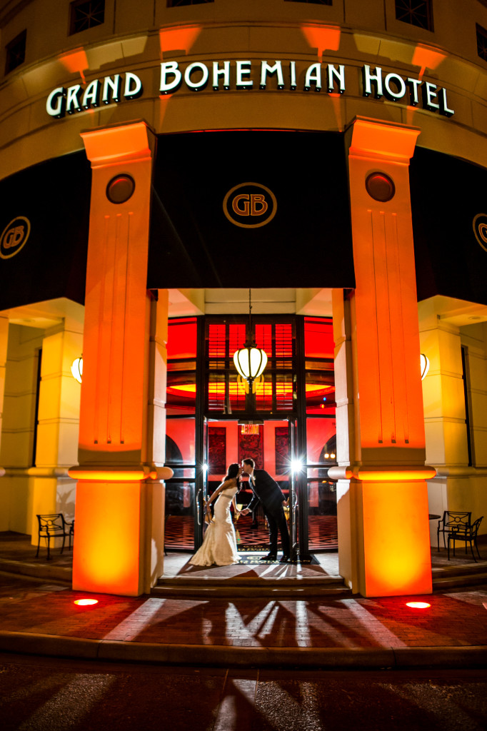 grand bohemian wedding downtown Orlando
