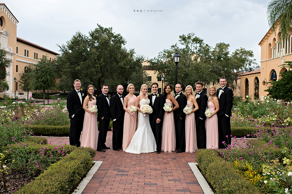 elegant bridal party