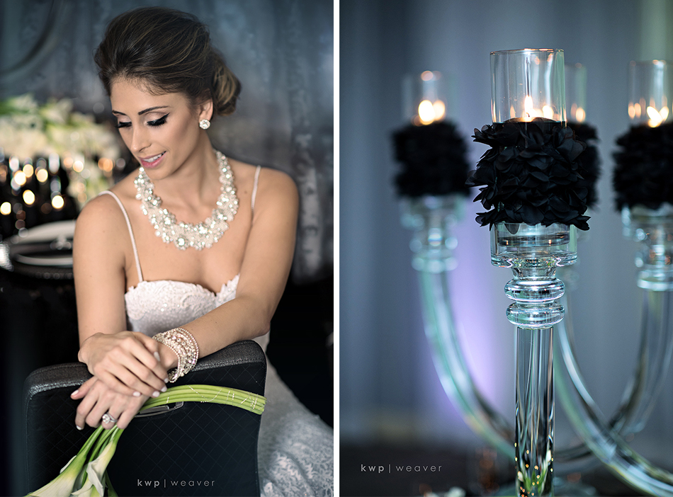 feather wedding details