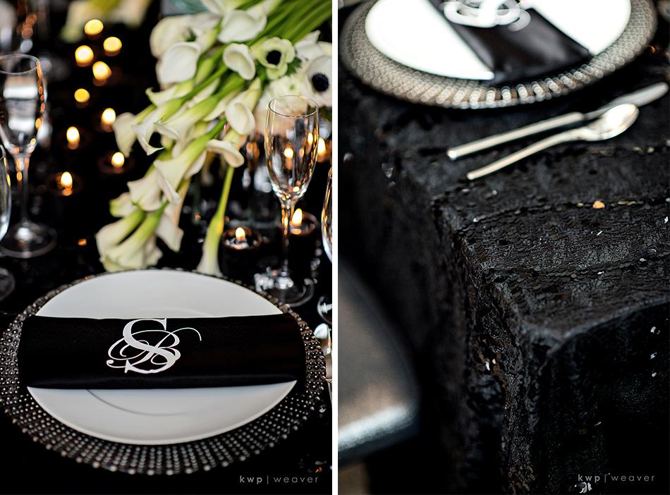 black sequins wedding