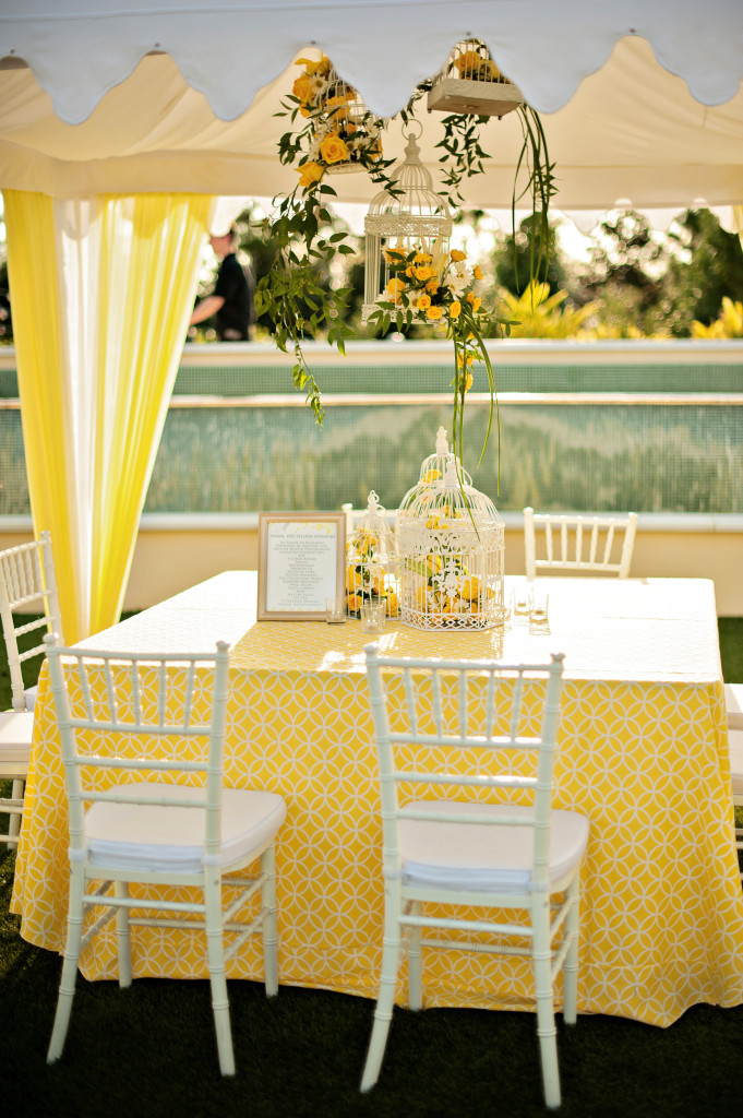 yellow wedding floral