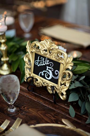 Table Numbers Orlando Wedding Planner AATR Weddings