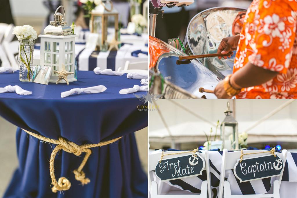 navy nautical wedding