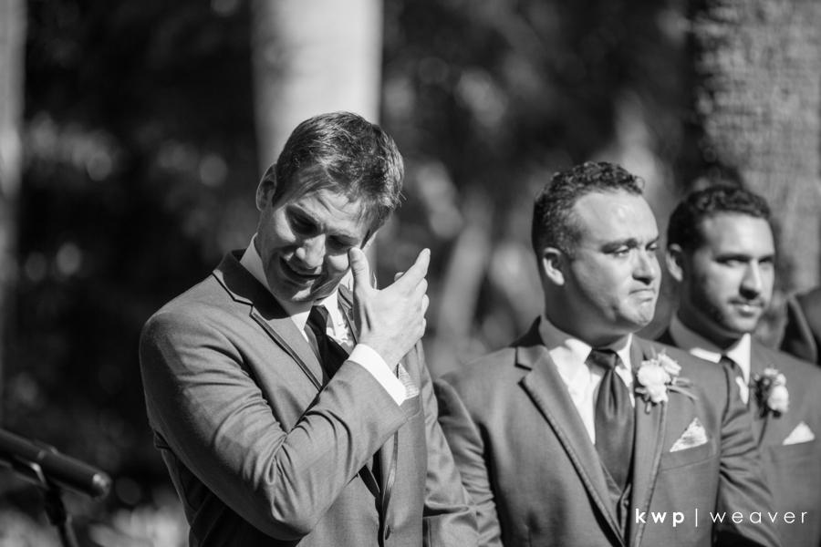 Vero Beach Wedding grooms reaction