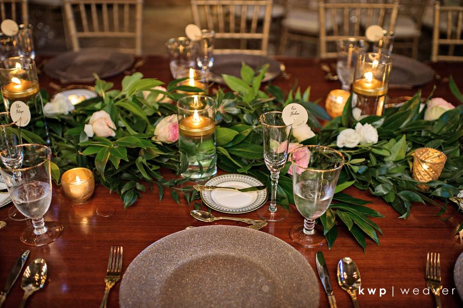 Vero Beach Wedding gold details