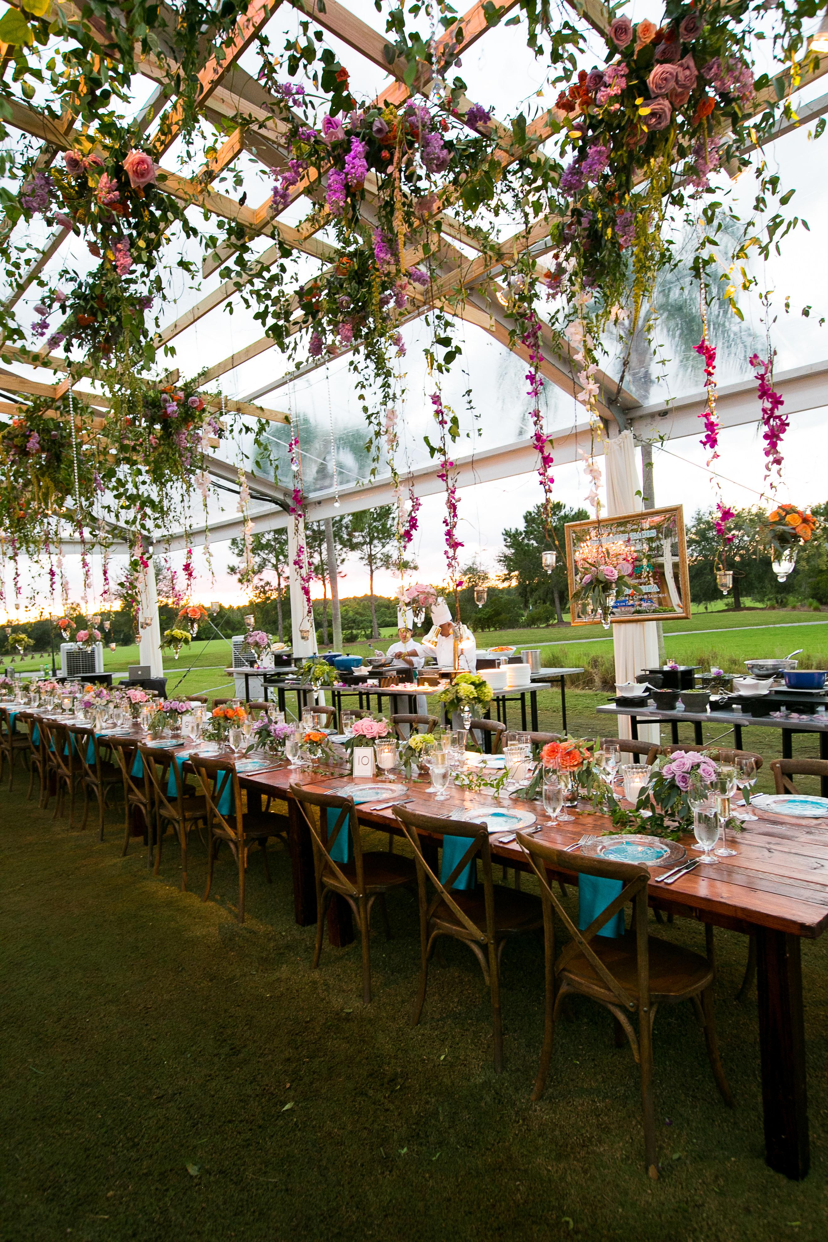 garden spring wedding