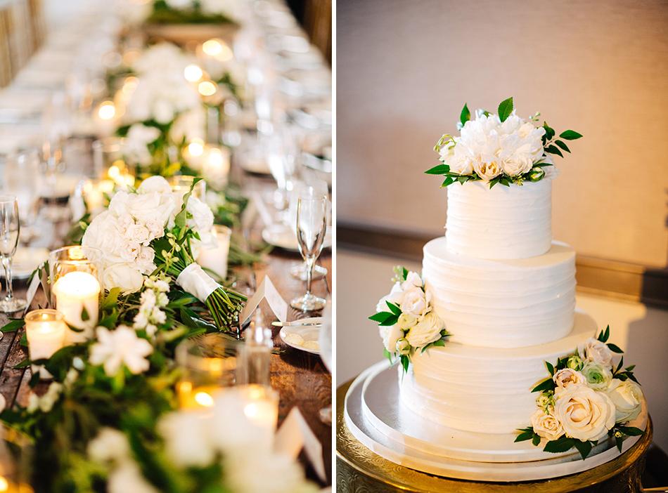 garden inspired wedding cake