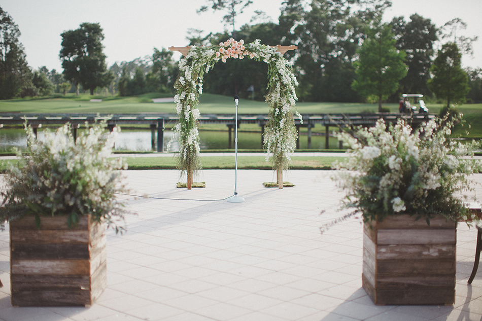 lush floral ceremony arch