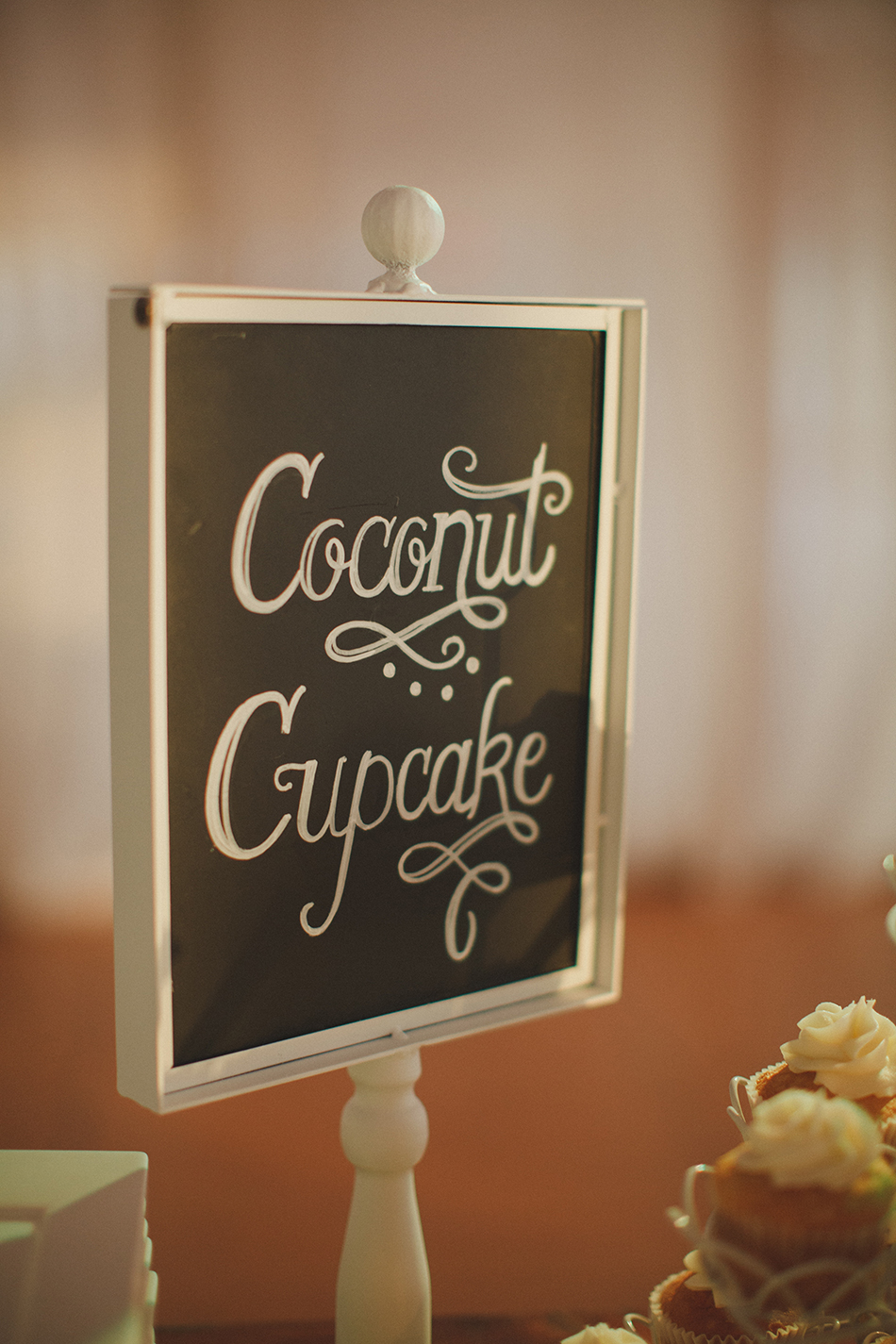 coconut wedding dessert