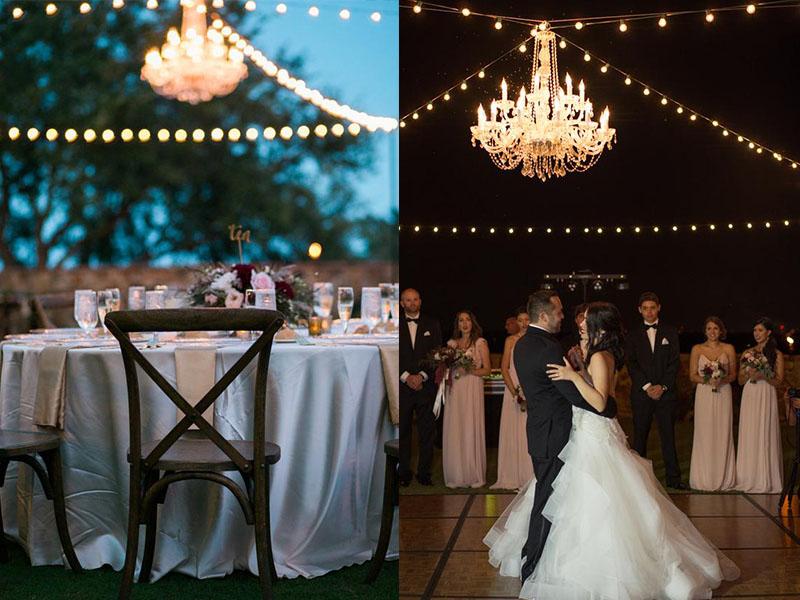 Bella Collina Wedding Chandlier Lights