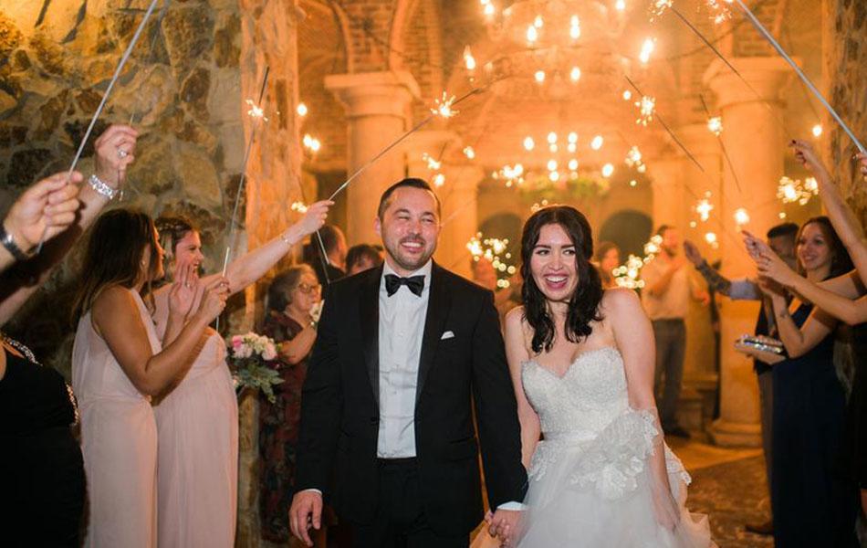 Bella Collina Wedding Sparkler Exit