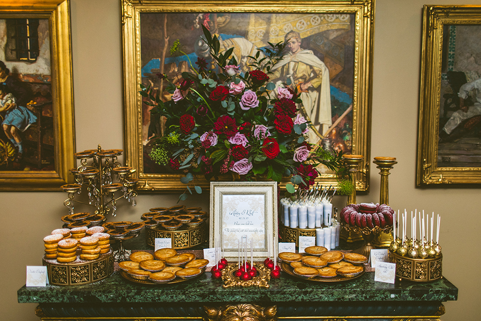 AATR Weddings Wedding PLanner Grand Bohemian Reception Inspiration dessert buffet