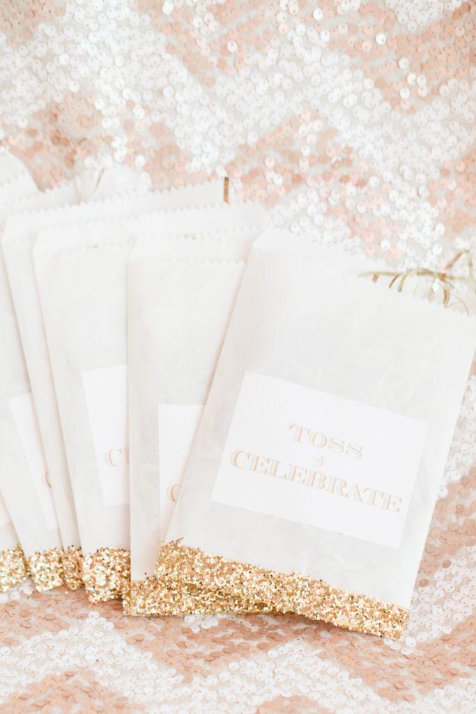 AATR Wedding Orlando Wedding Planner Toss Glitter