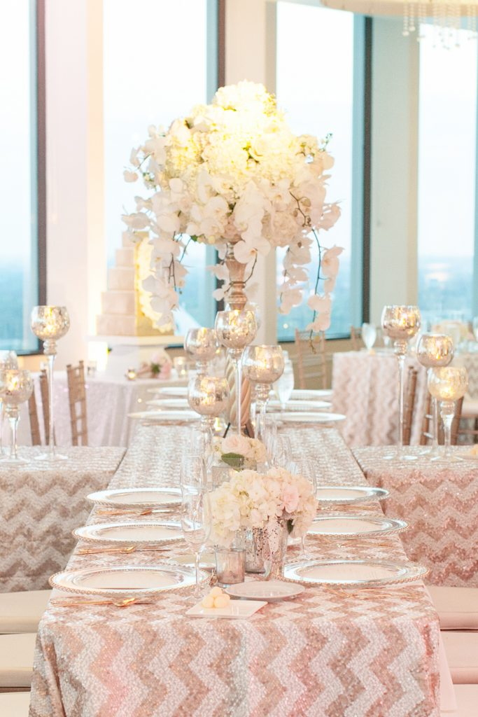 Citrus Club Wedding | Champagne & Glitter Details | Orlando Wedding Designer