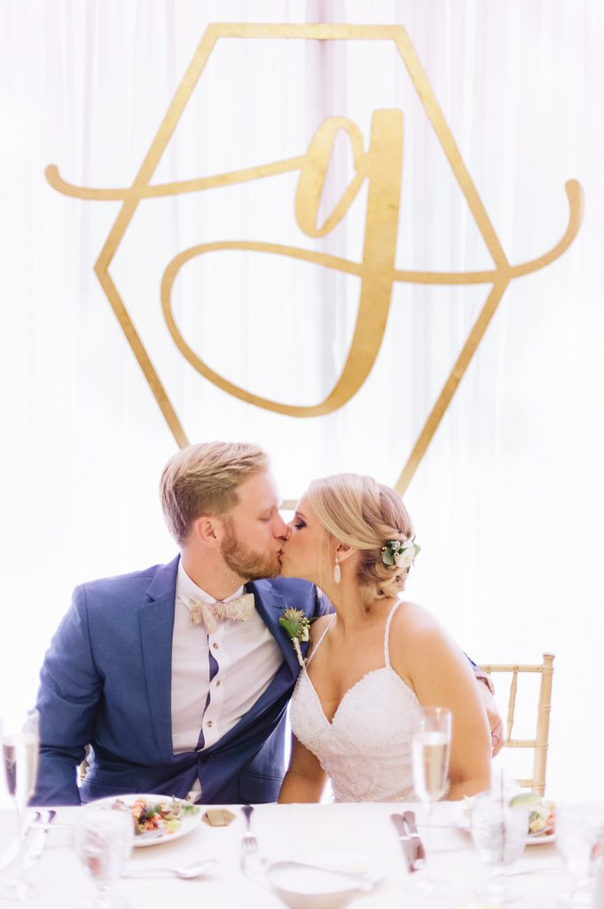 Monogram Backdrop Wedding AATR Weddings