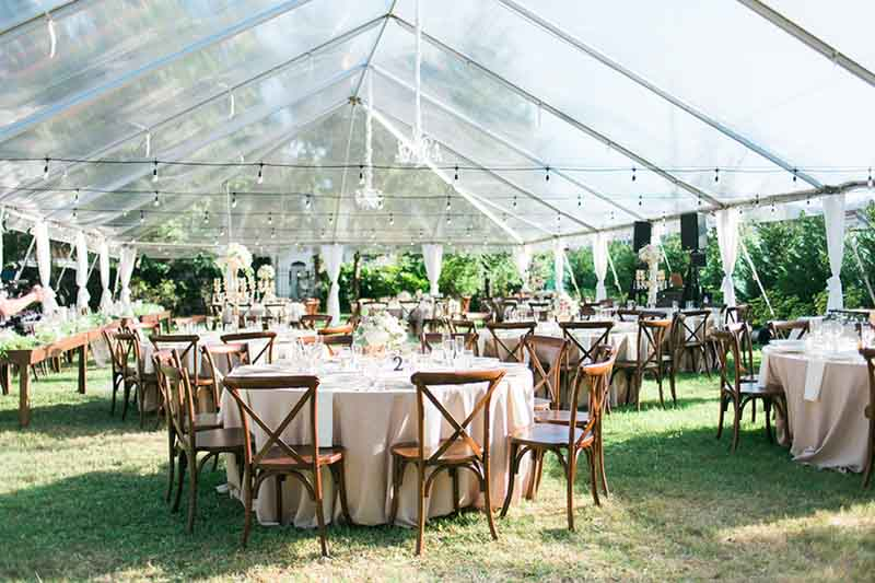 Tent Wedding Clear Tent AATR Wedding Orlando Wedding Planner
