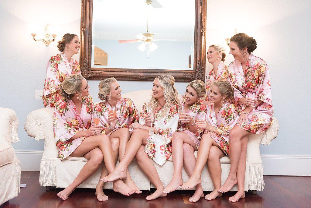 Bridal Party Robes AATR Weddings An Affair to Remember Wedding Planner Orlando