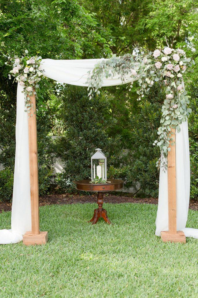 Ceremony Arch Greenery AATR Weddings An Affair to Remember Wedding Planner Orlando