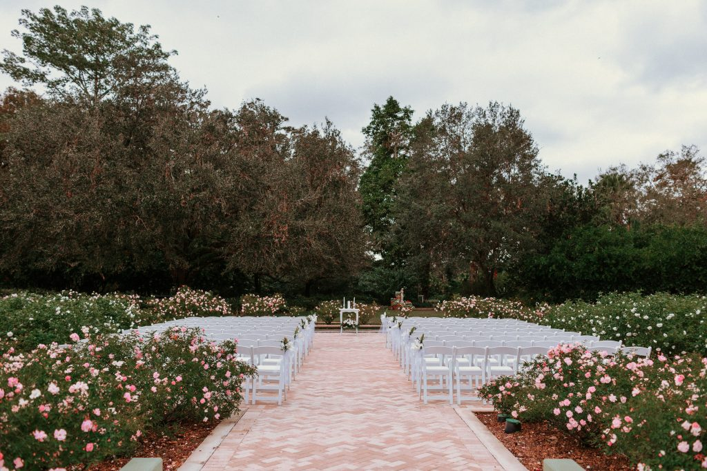 Leu Gardens wedding - rose garden ceremony
