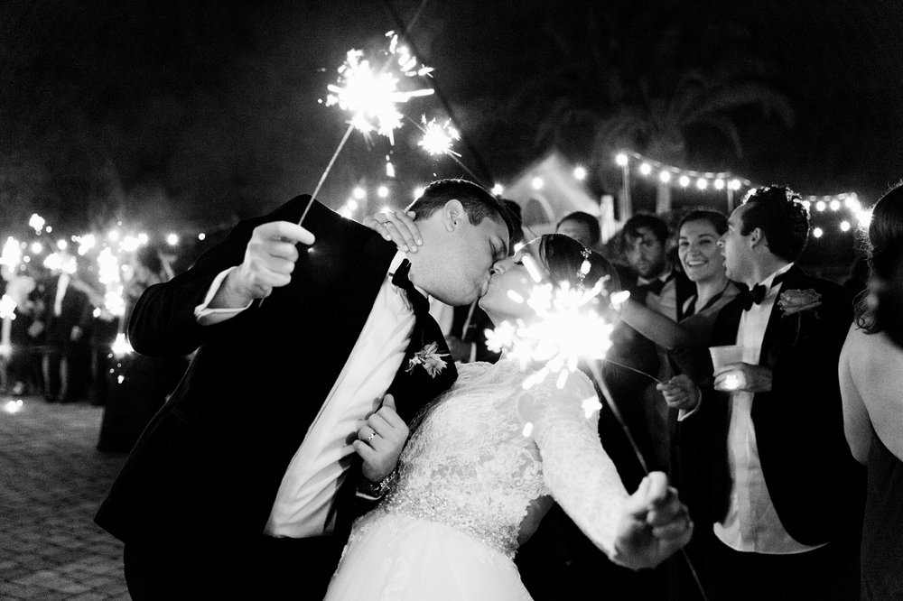 Winter Park Wedding Wedding Planner AATR Weddings Sparkler Exit