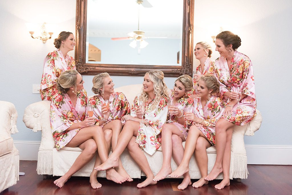 Bridal Party Robes AATR Weddings An Affair to Remember Wedding Planner Orlando
