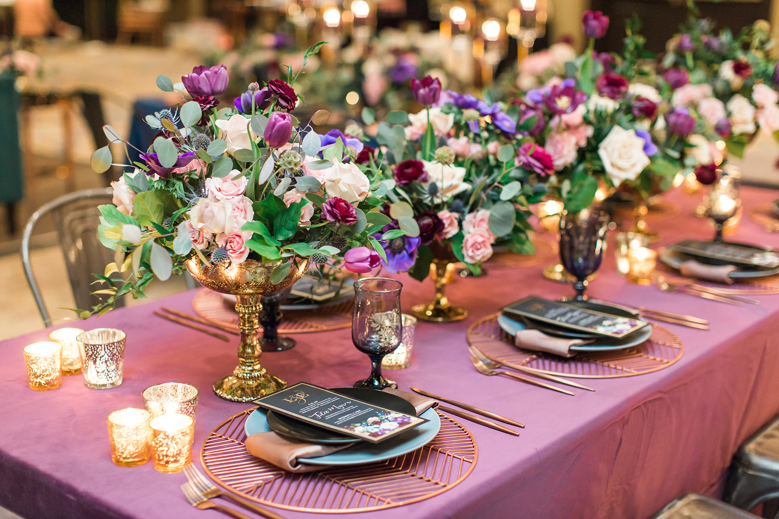 Jewel Tones Mixed With Metal Touches