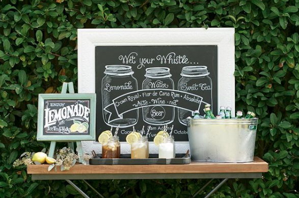 mason jar sign lemons