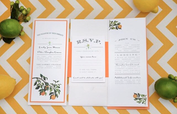 lemon inspired invitation
