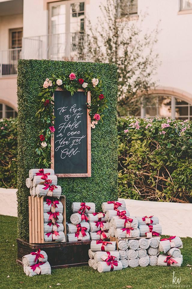aar weddings outdoor ceremony blankets